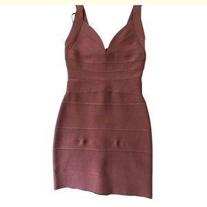 HERVE LEGER mini dress
